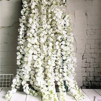 DIY Wedding Artificial Wisteria Flower Hanging Rattan Bride Flowers Garland For Home Garden Hotel Decoration