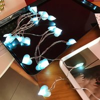 3M Led Love Heart Wedding String Fairy Light Christmas Romantic Lights Strings Indoor Party Garden Garland lighting Blue