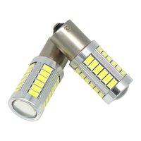 1157 7443 3517 1156 Ampoule LED P21W 33 LED 5630 5730 SMD voiture Bouche de frein d'ampoule de la voiture Auto Reverse lampe rouge blanc couleur jaune