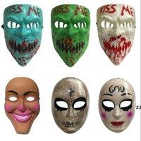 Halloween Festa Mask Máscara Cruz Máscaras Cosplay Cosplay Partido Coleção Coleção Full Face Creepy Horror Filme Masque Masque Máscaras HWB8994
