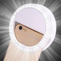 Selfie LED Bague Remplissage Light Portable Portable Téléphone mobile 36 LEDS Selielamp 3 Niveaux Clip lumineux pour tous les téléphones portables