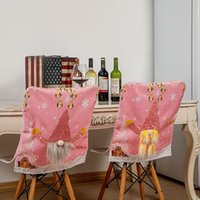 Decorazioni natalizie Copertura sedia Xmax rosa con luce Rudolph Home Table Decorazione HWF8298