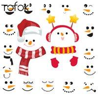 Weihnachten Kreative Schneemann DIY Wandaufkleber Umweltfreundliche Tasse Tür Fenster Cartoon Nette Tapete Poster Festival Wohnkultur