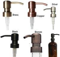 موزع الصابون الأسود النحاس النحاس البرونز الصدأ دليل 304 الفولاذ المقاوم للصدأ مضخة السائل للمطبخ الحمام جرة غير المدرجة owb10912