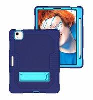 Custodia in tavoletta 3 IN1 per iPad 10.2 10.9 11 12.9 9.7 pollici Mini45 Samsung T290 T500 T220 T870 P610 PC + TPU Portable Amourt Antifurgo Copertura PC