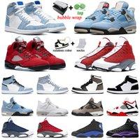 كرة السلة أحذية رجالي المدربين 1 ثانية Hyper Royal 4S University الأزرق 5S Raging Red 6s Carmine 11S حفلة موسيقية ليلة 13S Court