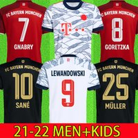 21 22 Bayern Munich Soccer Jersey Lewandowski Sane 2021 2022 Camisa de fútbol Hernández Goretzka Gnabry Camisa De Futebol Top Tailandia Hombres Kits Kits