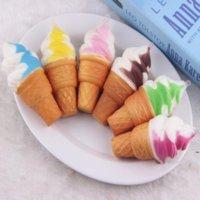 Игрушки милые мягкие джамбо мороженое мороженое Squishy медленно поднимаясь сотовый телефон ремешки хлеба антистрессовые ароматные ключевые подвесные подвески детей игрушка OWA4556