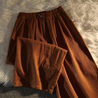 Women's Pants & Capris Vintage Solid Women Wide Leg Korean Chic Streetwear Harajuku Trousers Japanese Casual Joggers Femme