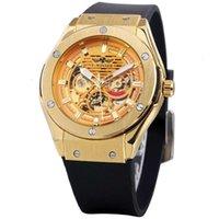 Winner Men's Watch Style Ocio Hollow Fashion Out Gran Dial Mecánico Automático