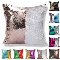 Pullu Yastık Kılıfı Glitter Mermaid Yastık Kapakları Geri Dönüşümlü Sequins Yastık Kokulu Büyülü Renk Ev Dekorasyonu WLL603