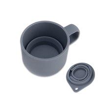 Caneca de café telescópica com palha e tampa BPA Free Silicone Dobrável Água Cup 3 Cores Retrátil Camping Viagem Vidro RRD7322