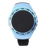 무선 스피커 시계 휴대용 웨어러블 미니 스포츠 블루투스 스테레오 서브 우퍼가있는 전화 스피커