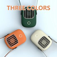 Electric Fans Portable Delicate Hanging Neck Fan Mini Pocket Air Cooling Summer Outdoor Travel Lanyard Handfree Cooler USB Chargeable