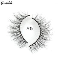 Genazish Mink cílios 3D Handmade Natural Super Qualidade Falso 1 par falso olho cílio para maquiagem-A181