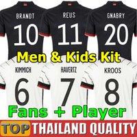 2020 독일 축구 유니폼 HUMMELS KROOS 축구 셔츠 20 개 21 드락 슬러 레 우스 MULLER GOTZE 남성 여성 아동 키트 유니폼