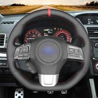 Steering Wheel Covers DIY Anti-Slip Wear-Resistant Cover For WRX (STI) Levorg 2021 - Car Interior Decoration