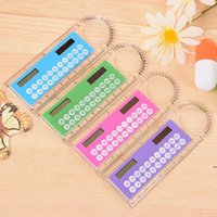 Mini Tragbare Solarenergie-Rechner-Rechner Creative Multifunktionslineal Student Mallers Calculator FWF7002