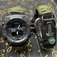 Addies Homens Sports Sports Digital Relógios Digitais Compass Ao Ar Livre Sobrevivência Multi-Função Waterproof Masculino Relogio Masculino 210329