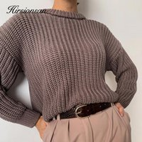Women's Sweaters Hirsionsan Winter Warm Knitted Sweater Women 2021 Basic Knittwear Oversized Soft Female Pullover Thicken Casual Solid Jumpe