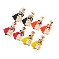 Европа Америка Простой Стиль Леди Женщины Титановые Стальные Кисточки Выгравированные H Инициалы Резиновые и металлические Блокировка Серьги Штен 3 Цвет