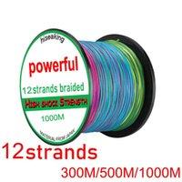300M 500M 1000M Braided Fishing Line 12 Strands Power PE Braid Multicolor Super Japan Multifilament For Crap