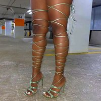 Riomcy Summer Cross Strap Gladiator Sandals Women 2021 Square Toe Super High Heels Sandal Woman Sexy Thin Heel Party Shoes Mujer
