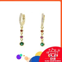 Colorful Nice Round Cz Drop Charm Bengals Bundled Tassel Earring 2020 New Arrived Fashion Jewelry for Women