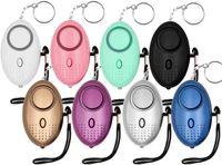 Persönliche Alarmsirene 130db Keychain mit Not-LED-Sicherheitsschutzgeräte Anti-Angriff-Tool für Frauen Mädchen Kinder im Freien taktische Zubehör