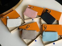 Suporte de moda de alta qualidade Moda Bolsa Designer Chave Chave Caixa Zippy Wallets Bolsa de Couro Segura Mulheres Clássicas Mini Saco Pequena Carteira 5 Cor Bonito