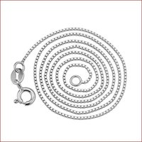 Fashion Solid 925 Sterling Silver Necklace For Women Girl Party Box Chain Jewelry N01 Chains
