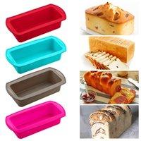 베이킹 금형 실리콘 금형 토스트 빵 팬 케이크 몰드 트레이 비 스틱 덩어리 과자 주방 도구