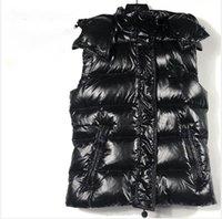 المرأة السوداء الشتاء أسفل شامل الصدرية أكمام مبطن البخاخ النايلون سميكة جيليه مبطن خفيفة الدافئة