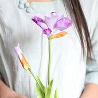 الزهور الزهور أكاليل 10 قطعة / الوحدة محاكاة باوهينيا الحرير زهرة ريال اللمس الصينية redbud فرع الزفاف جدار الديكور اليد القابضة