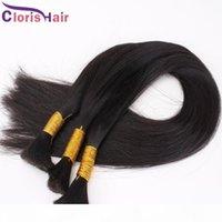 Brasileño Human Bulk Braiding Hair No Tronco Har Barato Straight Hair Extension en Bulk 3 Paquetes Oferta Exquisite Weave Bulk Best Products