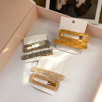 Hair Clips & Barrettes Fashion 2021 Glitter Big Size Makeup Styling 2 Pcs Set Pins For Women Accessories