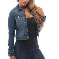 Women's Jackets 2021 Denim Jacket Casual Long-sleeved Cardigan Pullover Slim Short