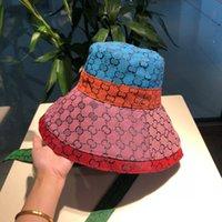 2021 The TOP TOP DESIGNER MODE MULTICOLOR Patchwork Bucket Bucket pour Mens Femme Classic Field Quality High Quality Hatherman Chapeau