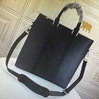 Wholesale ANTON TOTE Briefcase Men Tote Handbag Damier Graphite Canvas Laptop Briefcase Cross Body Bag Fashion Leather Shoulder Bags N40000