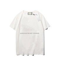 Modèle d'impression de luxe T-shirt Hommes Personnalité de la mode Hommes Design Shirt Femme De haute qualité noir et blanc