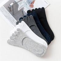 1pair socks men 5 finger socks cotton spring summer comfortable breathable toes sock men's 5 finger short sock