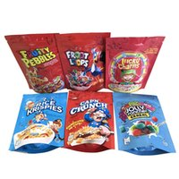 Vuoto Fortunato Charms Cereali Borse Froot Loops Cap'n Crunch Ciottoli fruttati Golly Rancher Cereale Riso Krispies Tostato Mylar Bag Packaging
