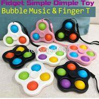 Lanyard Fidget Simple Dimple Brinquedos Bubble Chaveiro Push Spinner Board Stress Relevo Decompression Dedo Bolhas Dnastress Bolas