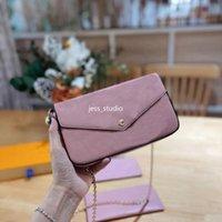 Fashion Ladies monedero monedero bolsos de mujer bolsas de cuero de alta calidad billetera de hombro diagonal ligero al aire libre juego de tres piezas