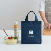 Storage Bags Fashion Portable Thermal Lunch Bag Food Fresh Bento Pouch Office Picnic Drink Cold Insulation Organizer Tote Accessories Supply