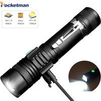 Torcia potente Ultra Bright Linterna T6 / L2 / V6 ricaricabile da 18650 torce a batteria Torce