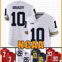Michigan Wolverines 10 Tom Brady American Football Jersey 10 Tom Brady 97 Nick Bosa 26 SAQUON BARKLEY JERSYYS DULT DULY BIANCO VTYJH