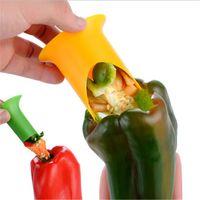 Pfeffer Corer Chili Samen Entferner Gerät Chili Cutter Corer Slicer Obstschäler Küche Utensil 2 stücke 1 Los Zufallsfarben 561 V2