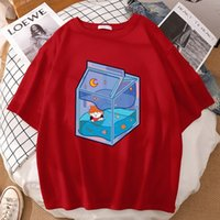 Women's T-Shirt Hinata Shouyo Cute Cartoon Box Print Tops Oversized Cotton T Shirts High Quality T-Shirts Crewneck Casual Womens