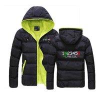 Men's Hoodies & Sweatshirts 2021 1N23456 1 N 2 3 4 5 6 Motorcycle Motorbike Customize Down Warm Jackets Male Zipper Coat Fashion Slim Coats